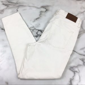 "J. Crew 9"" High Rise Off White Skinny Jeans"